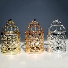 Retro Wedding Table Decor Hanging Iron Birdcage Candlestick Candle Stand Holder European Style Home Shape