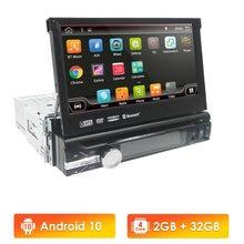 Android 10 Đa Năng 1 Din Xe Video Dẫn Đường GPS Bảng Điện Tử Có Thể Tháo Rời Mặt Trước 1din AutoRadio Âm Thanh Stereo Với BT 2GB + 32GB