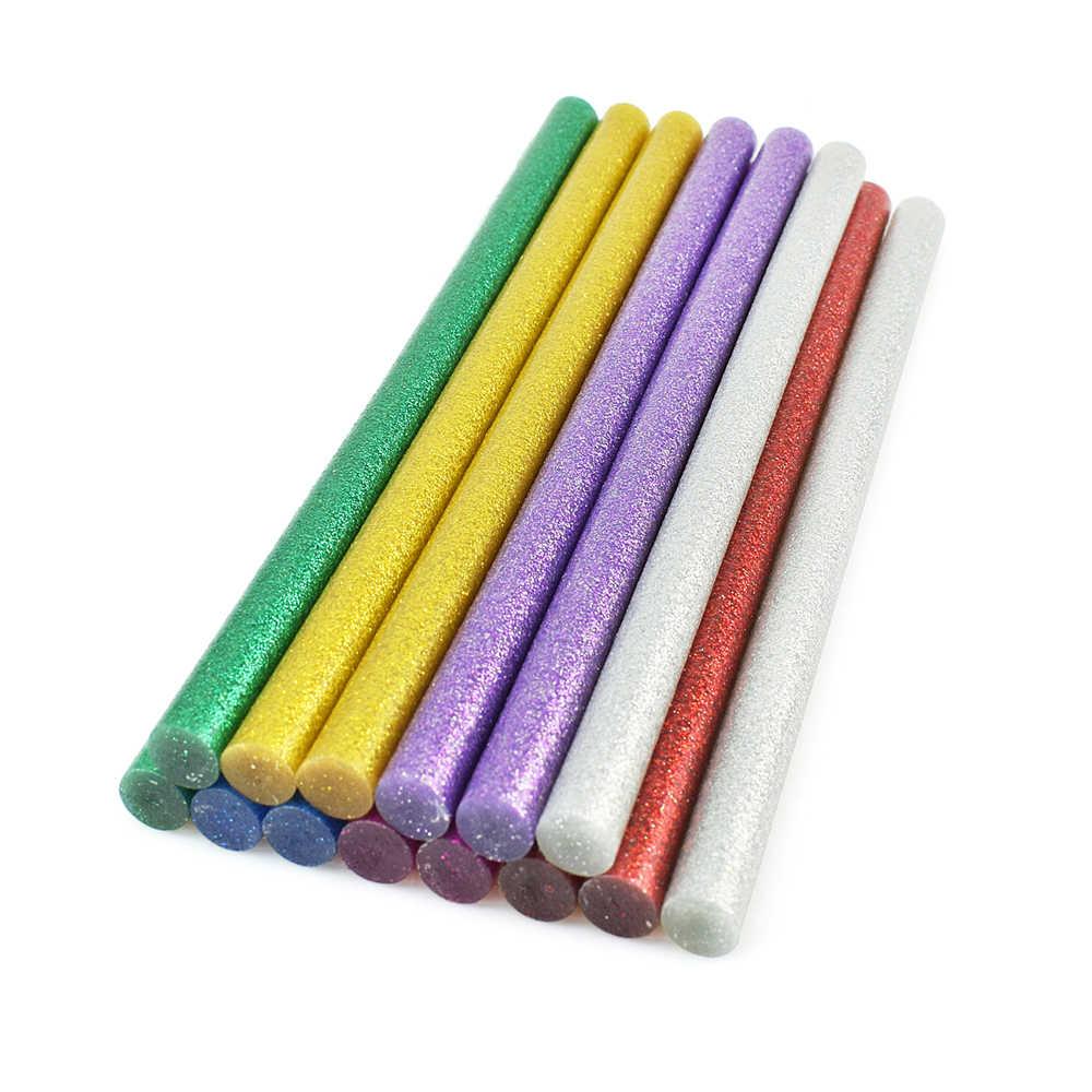 NEWACALOX 14 قطعة صمغ يسيح بالحرارة العصي الملونة غير سامة 11x200 مللي متر عصيان غراء للكهرباء مسدس الغراء لتقوم بها بنفسك الفن الحرفية لعبة أداة إصلاح