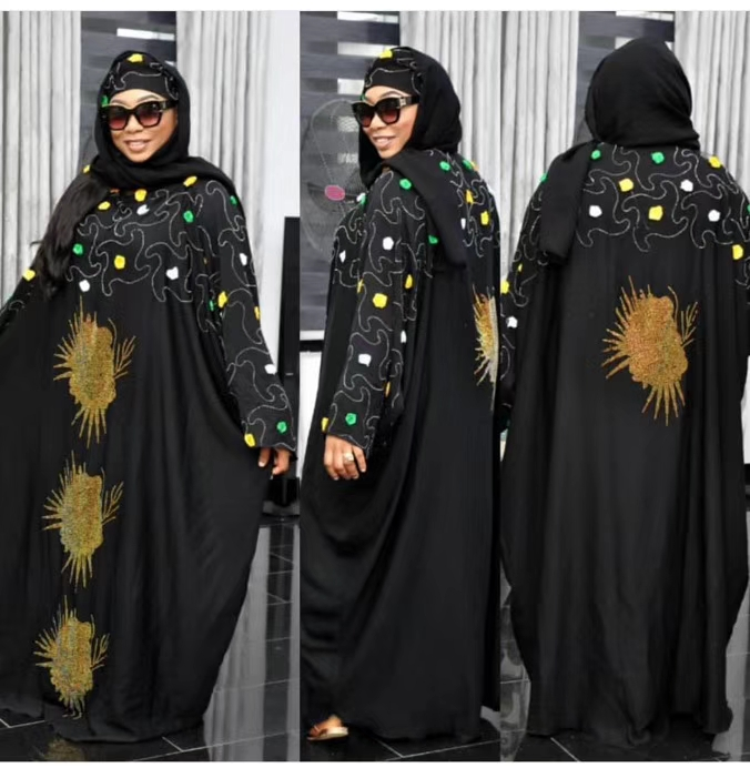 Image 2 - African Dresses For Women 2019 New African Women Clothing Fashion Africaine Robe Long Loose Maxi Dress Africa Clothes-in Africa Clothing from Novelty & Special Use