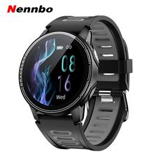 Nennbo nowy inteligentny zegarek nadajnik sportowy Fitness pulsometr mężczyźni kobiety Smartwatch zegarek z Bluetooth dla Android IOS telefon tanie tanio CN (pochodzenie) Brak Na nadgarstku Wszystko kompatybilny 128 MB Passometer english Rosyjski Hiszpański POLISH Portugalski