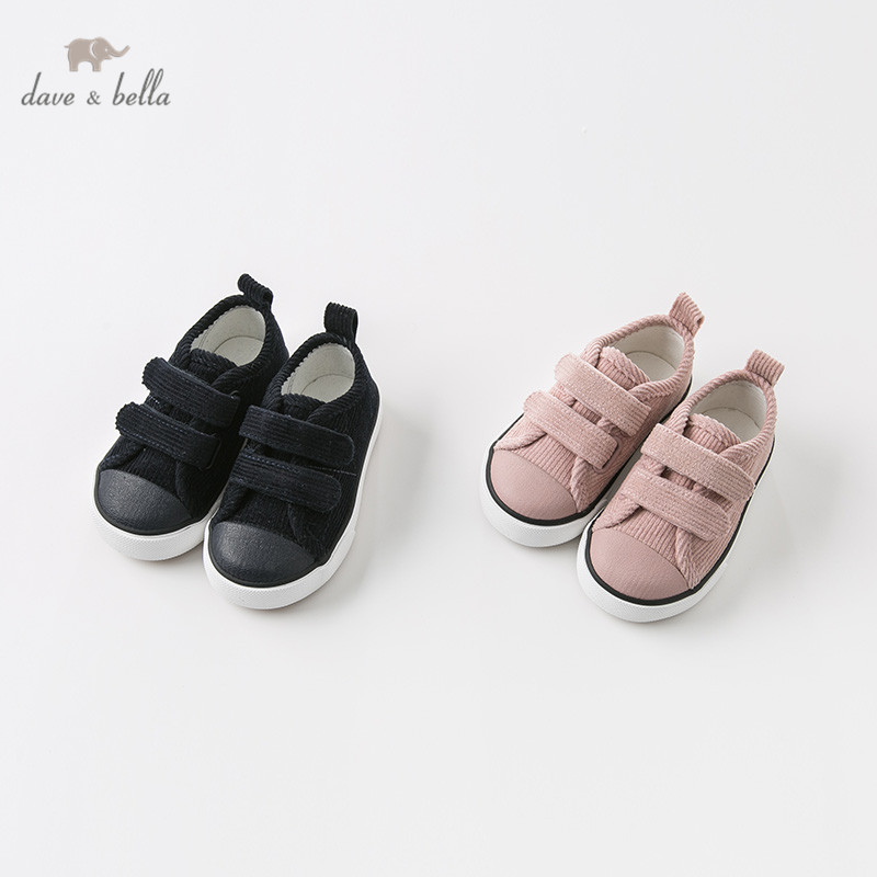 DB10953 Dave Bella Spring Autumn Unisex Baby Canvas Shoes New Born Girl Baby Boy Casual Solid Shoes