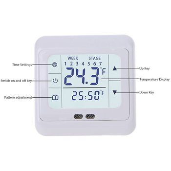 WIFI Smart Thermostat Electric Floor Heating Thermostat App Control Electric Heating System Temperature Controller With Kid Lock