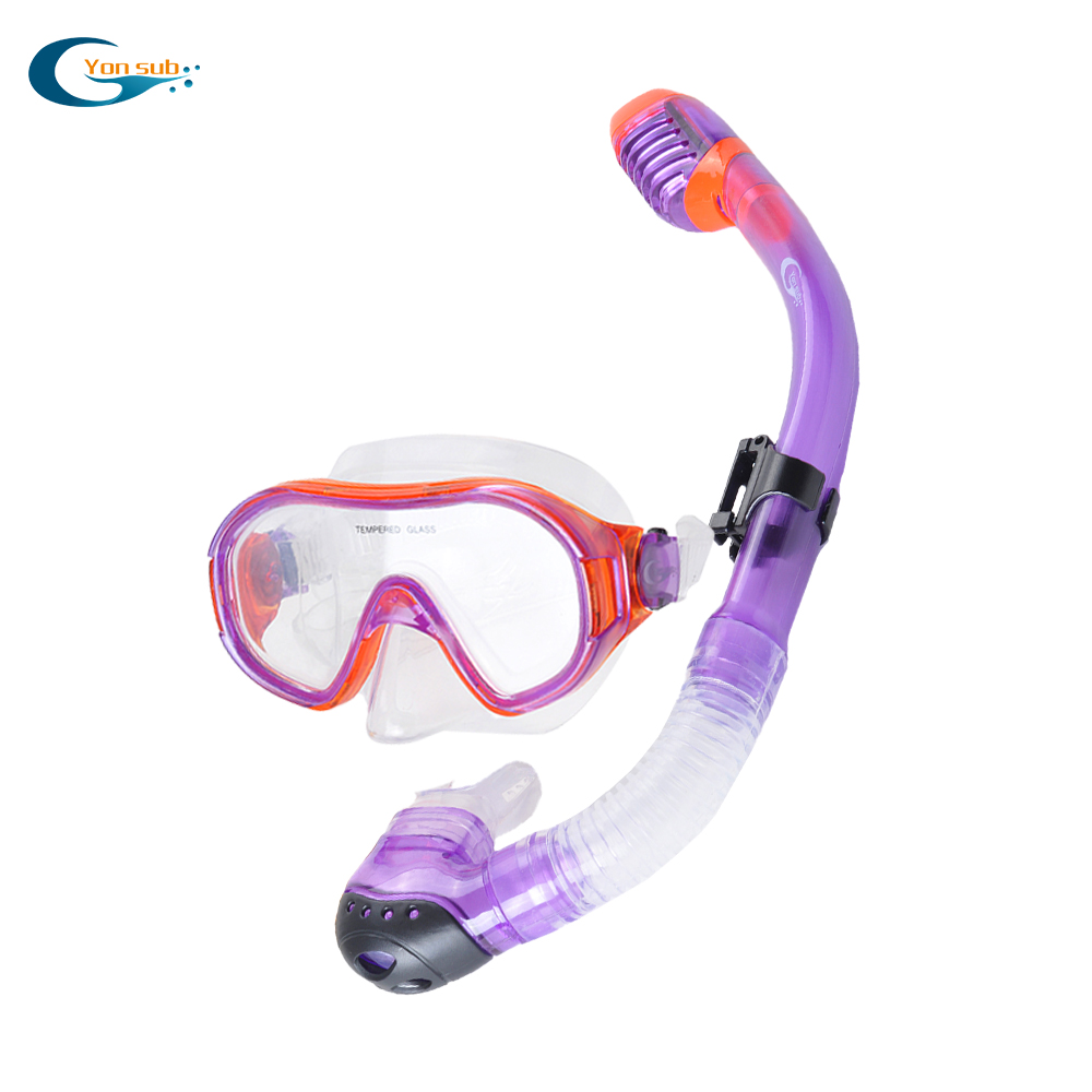 YONSUB Baby Kids Swimming Diving Mask Set Food Grade Liquid Silicone Mask + Tube Child Diving Equipment Snorkeling Gear