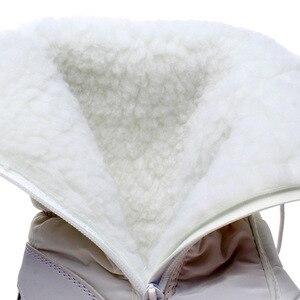 Image 3 - Kadın kar botları platformu kış çizmeler kalın peluş su geçirmez olmayan kayma çizmeler moda kadınlar kış ayakkabı sıcak kürk botas mujer