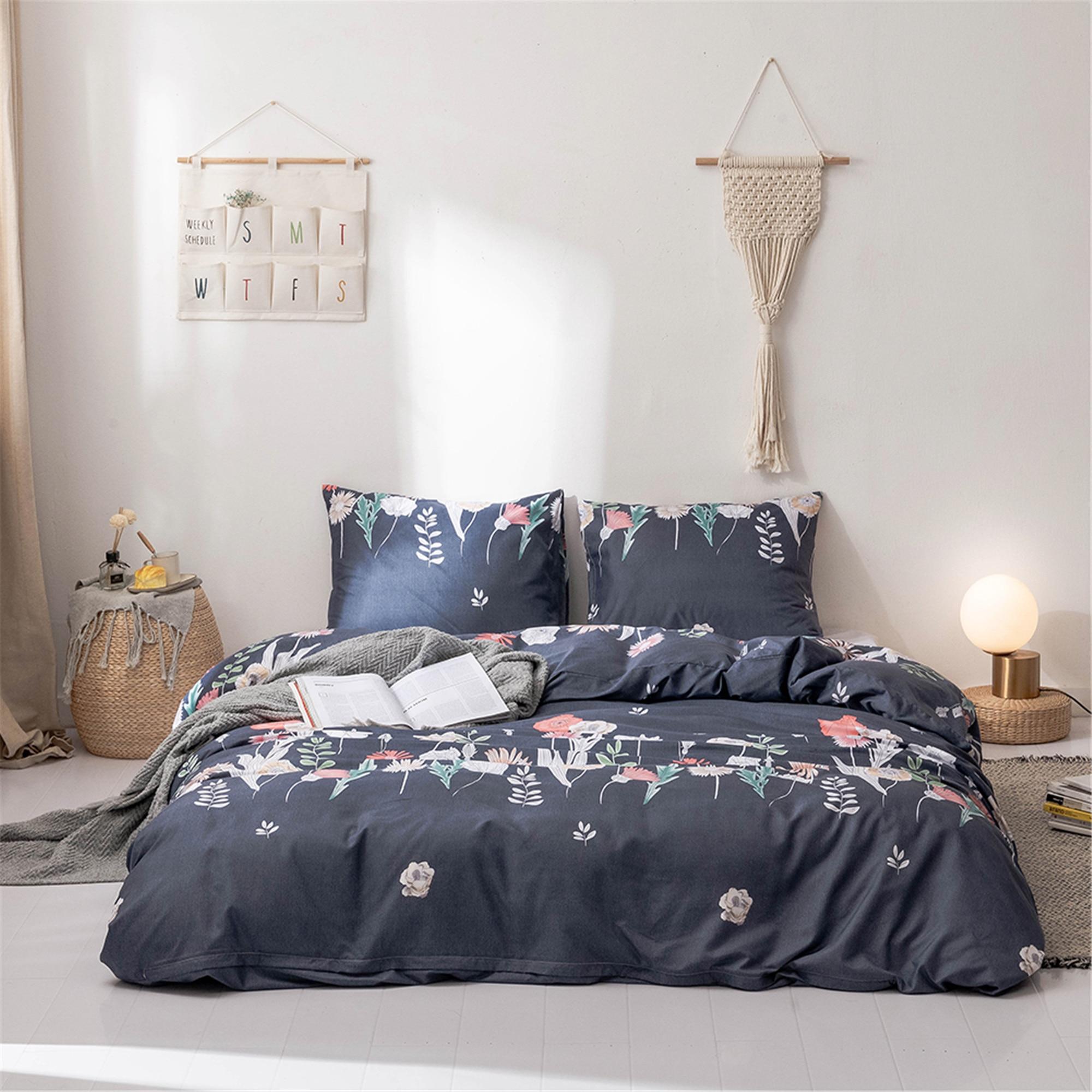 Beding Set Home Bedding Polyester 3 Piece Duvet Cover Quilt Sets Pillowcase King Queen Twin Luxurious Soft