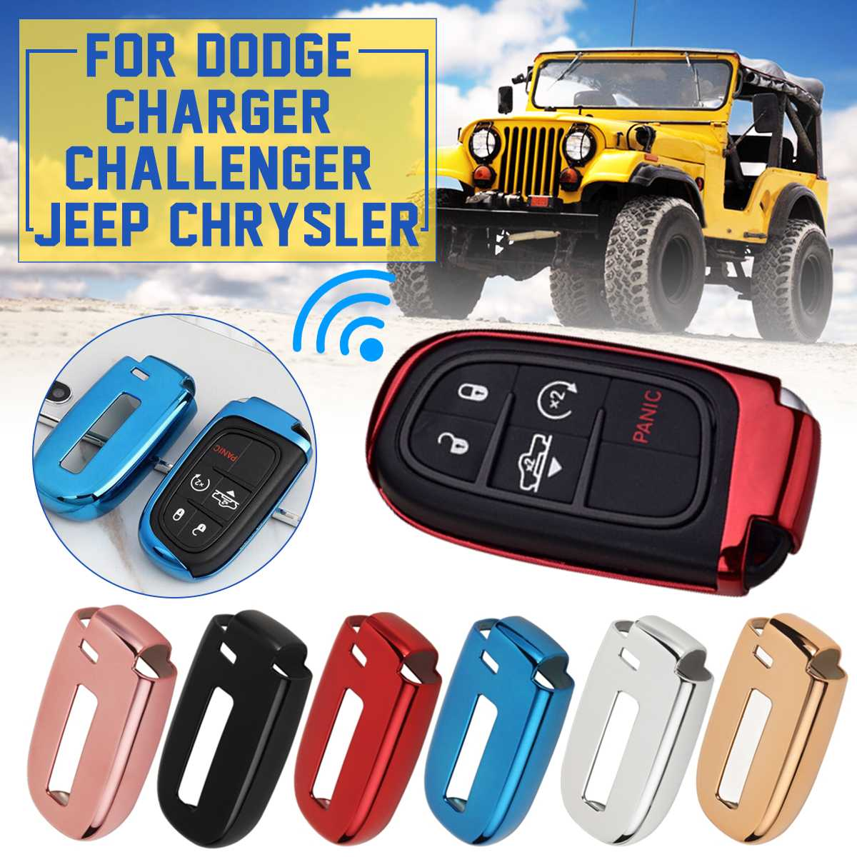 Soft TPU Remote Smart Key Cover Fob Case Shell For Dodge Journey Charger For Jeep Renegade Grand Cherokee For Chrysler 200 300
