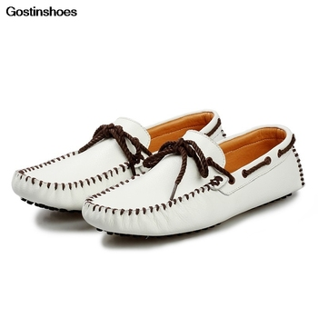 Drivers Men Shoes Homme Sepatu Kulit Pria Fashion Leather Genuine Leather Loafers Cow Leather Slip-on Summer Rubber Solid GSTN18