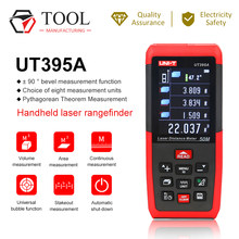 Medidor de distância a laser 50m, UNI-T medidor de distância à laser precisão 2mm ut395a fita profissional, fita de medição, usb, software de exportação de dados de pc