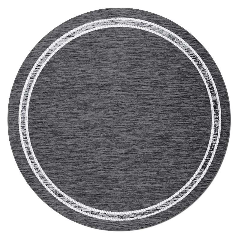 Скандинавский современный ковер гостиная круглый ковер простые одноцветные Коврики Спальня прикроватный коврик домашний стул для прихожей круглый коврик игровой коврик - Цвет: 3