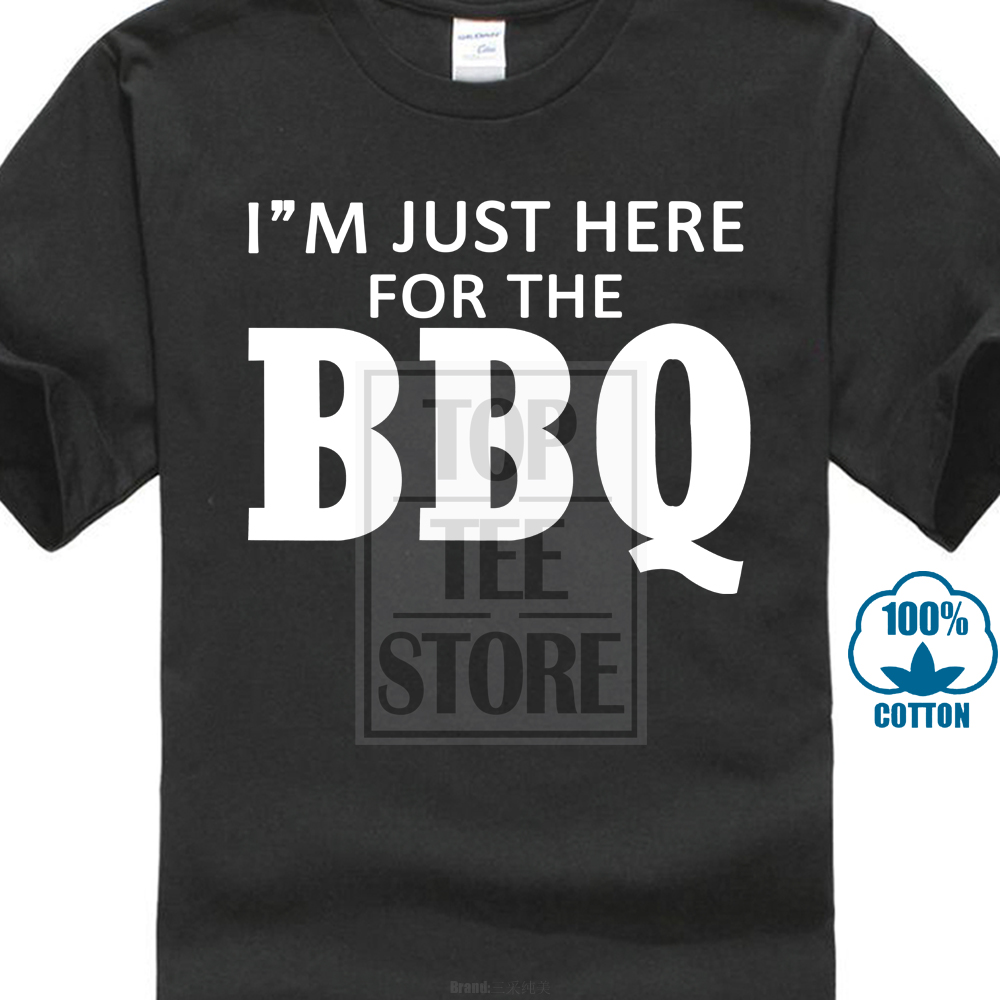 Print 2017 Creative fashion  Short New I'M Just Here For The Bbq Father Day Grilling Men T Shirt