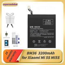 Supersedebat bm36 bateria para mi 5S bateria para xiaomi mi 5S mi5s bateria para telefone