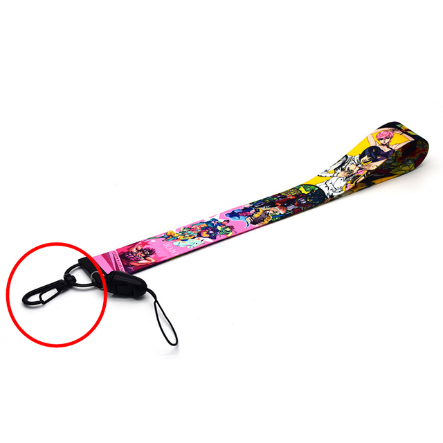 Jojo Bizarre Adventure Cosplay Accessories Prop Chain Key Rings Cell Phone Neck Strap ID Lanyards Key 2