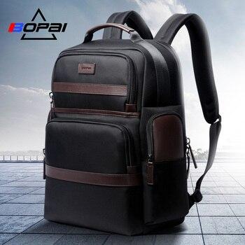 Bopai oxford viagem portátil dos homens mochila negócios casuais moda masculino trabalho de escritório volta sacos mochila escolar grande para o sexo masculino