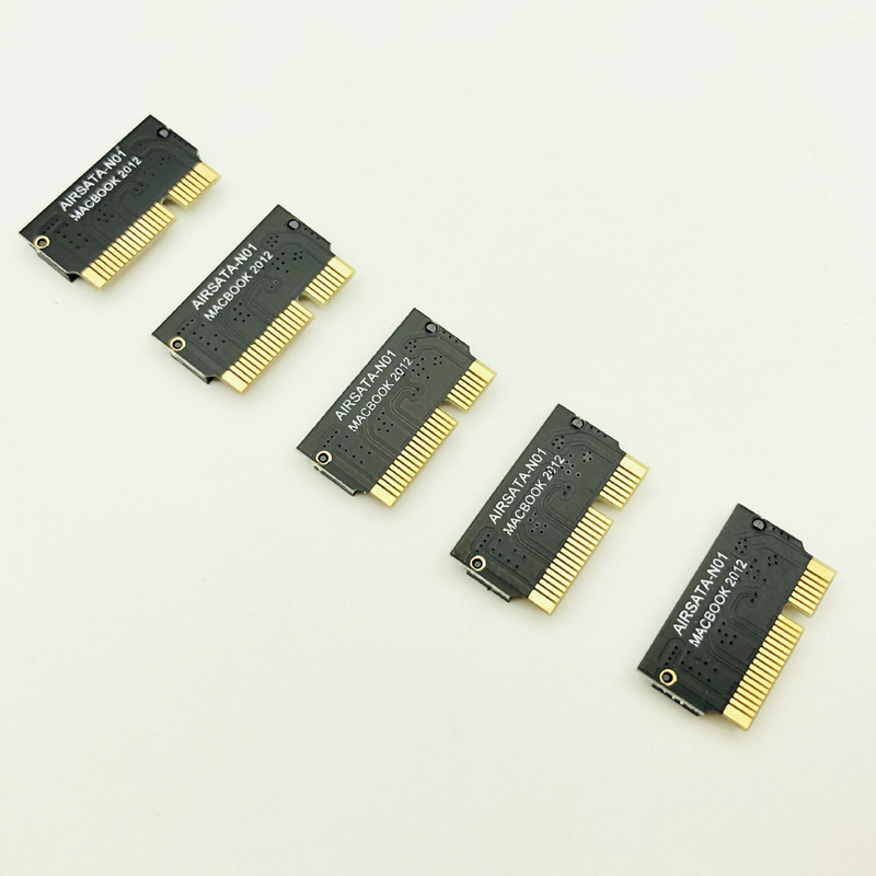5PCS For Macbook SSD Adapter Card For Apple SSD Adapter For Macbook Air 2012 A1398 A1425 6Pin+17Pin M.2 M2 SSD Adapter Converter