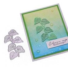 Leaves Dies Scrapbooking Metal Cutting New 2020 Green Leaf Craft for Cards Making Steel Embossing Stencil Folder