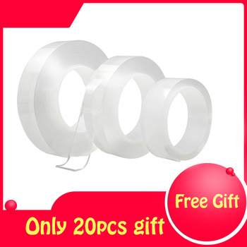1/2/3/5m Reusable double-sided Adhesive tape Scotch tape Nano Traceless Transparent Tape home improvement Gadgets 2020 new 1