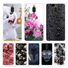 Casos TPU Para Huawei Companheiro 9 Pro Capa de Silicone Floral Pintado No Vidro Traseiro Para Huawei Mate9 MHA-L29 LON-L29 5.9 polegada Do Telefone cobrir