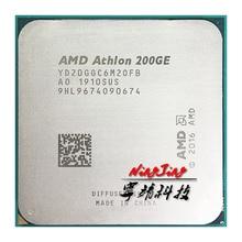 AMD Athlon 200GE X2 200GE 3.2 GHz çift çekirdekli dört iplik CPU işlemci YD200GC6M2OFB / YD20GGC6M2OFB soket AM4