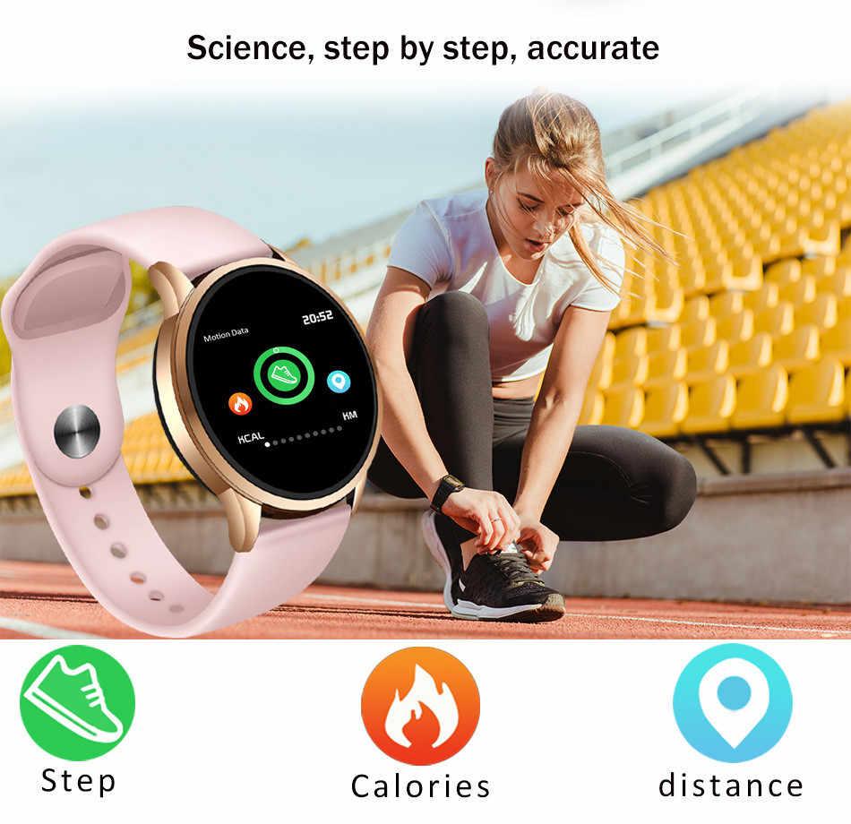 LIGE جديد الذكية wach النساء الرجال مقاوم للماء الرياضة smartwatch مراقب معدل ضربات القلب ضغط الدم وظيفة عداد الخطى جهاز تعقب للياقة البدنية