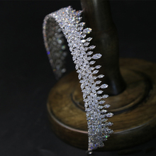 Simple Cubic Zircon Wedding Crowns Headbands Crystal Evening Hairbands Brides Hair Accessories Prom Jewelry