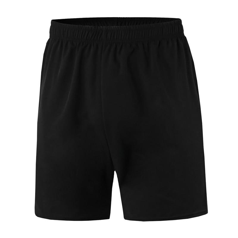 Men's Shorts Outdoor Sports Jogging Elastic Waist Shorts Mid-waist Loose Ladies Fitness Pants Black Pockets
