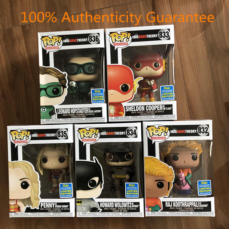 2019 SDCC Exclusive Funko pop Official TV: Big Bang - DC Universe Superheroes Vinyl Figure Collectible Model Toy In Box