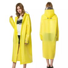 Yuding 155-185cm YELLOW RAINCOAT Waterproof Men\Women Rain Coat Poncho Outdoors Girls Womens Raincoat With Hood eflective Tape
