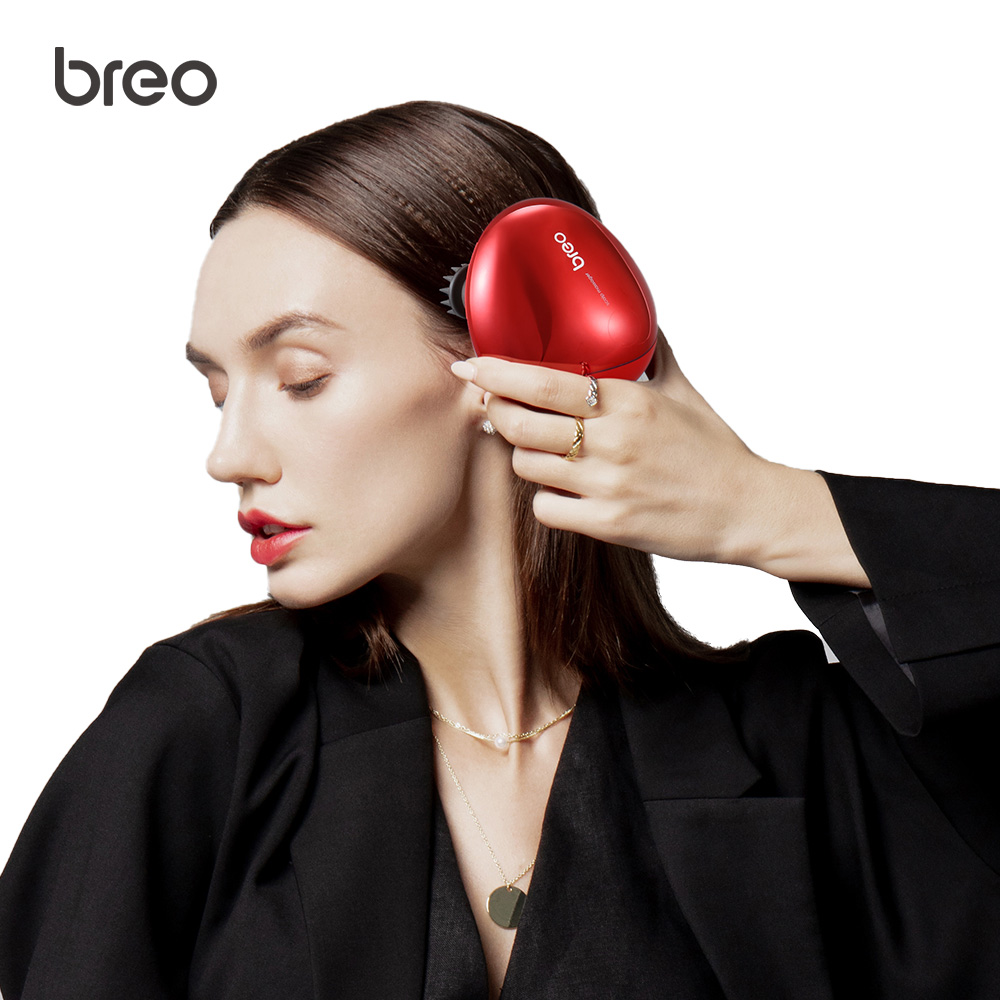 Breo Scalp Mini IPX7 Waterproof Electric Head Massager Wireless Scalp Massager Cat Body Massager For Hair Growth Health Care
