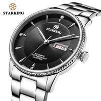 STARKING бизнес часы для мужчин Япония движение Авто Дата мужские часы сапфир нержавеющая сталь Водонепроницаемый 50 м relogio masculino AM0270