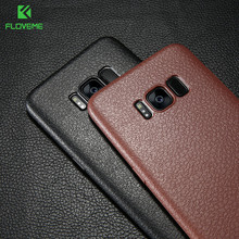 FLOVEME Ultra Thin Leather Skin Case For Samsung S8 S9 Plus Note 9 Business Case For Samsung Galaxy S9 S8 Plus Back Protector
