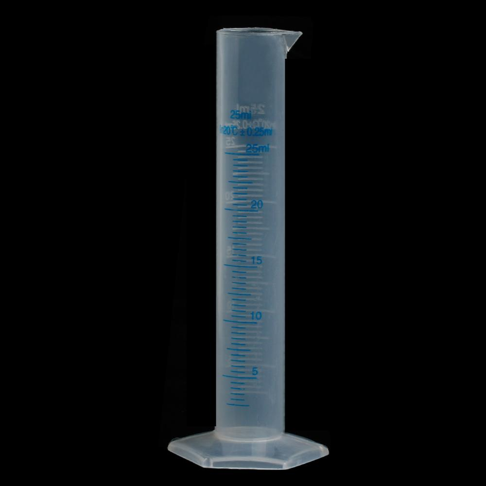 25mL Measuring Cylinder Laboratory Test Graduated Liquid Trial Tube Jar Tool New