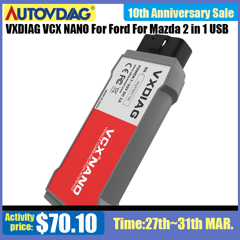 VXDIAG VCX NANO OBD2 Car Diagnostic Tool For Ford For Mazda 2 In 1 WiFi USB For IDS V112 PCM, ABS PK Fvdi J2534 Scanner
