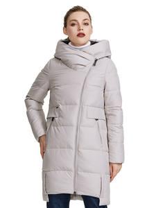 MIEGOFCE 2020 Зимняя коллекция женская зимняя куртка сделан с настоящего биопуха ветрозащитный стоячий воротник с капюшоном пуховик имеет неско...