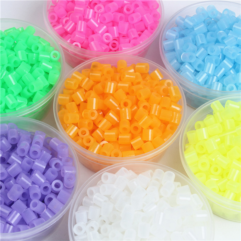 5mm Hama Beads 1000pcs/bag Luminous Fuse Hama Beads  3D Puzzle Toys For Children Jigsaw Puzzle Educational Toys