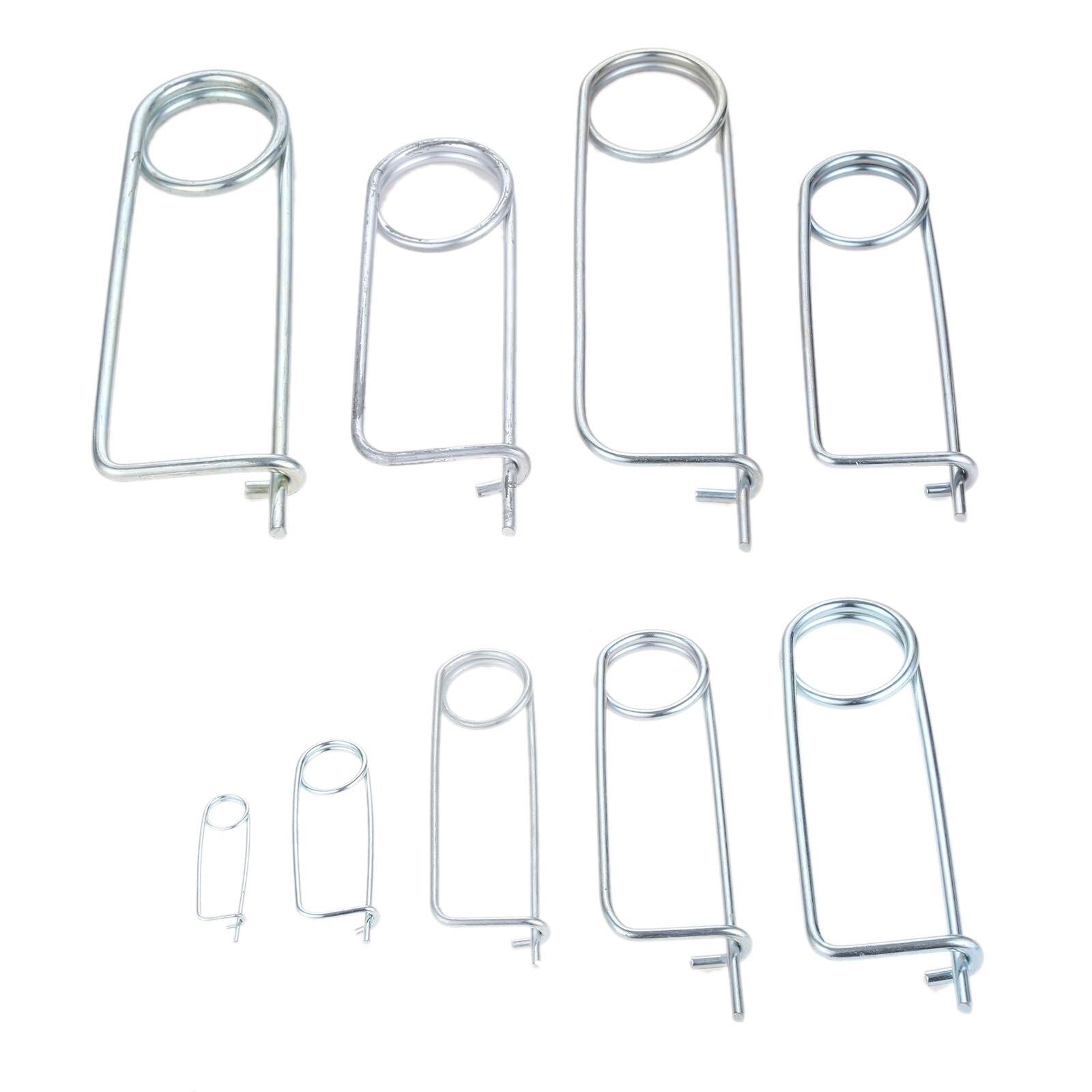 DRELD 10/5/1pcs Steel Brooch Shape Cotter Safety Pins Spring Pin Quick Lock Brooch Locking Fastener For Farm Lawn Garden Hitch