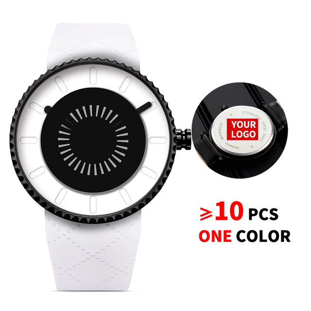 10PCS/Lot SINOBI 9742 Free Customized LOGO Watch Men Creative Watch Men Casual Street Unique Gear Silicone Rotation Custom Watch