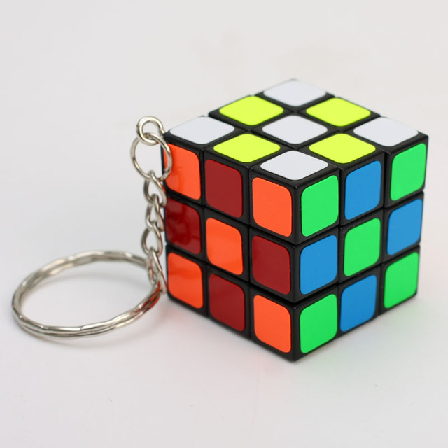 cheapest 3x3x3 ZCUBE Mini 3rd order Keychain Magic Cubing Speed  Puzzle Educational Toy For Children Kids 6
