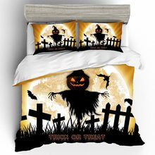 Home Textiles Bed Linen Set Halloween Kids Qualified Couple 3D King Size Bedding Sheets And Pillowcases Cotton