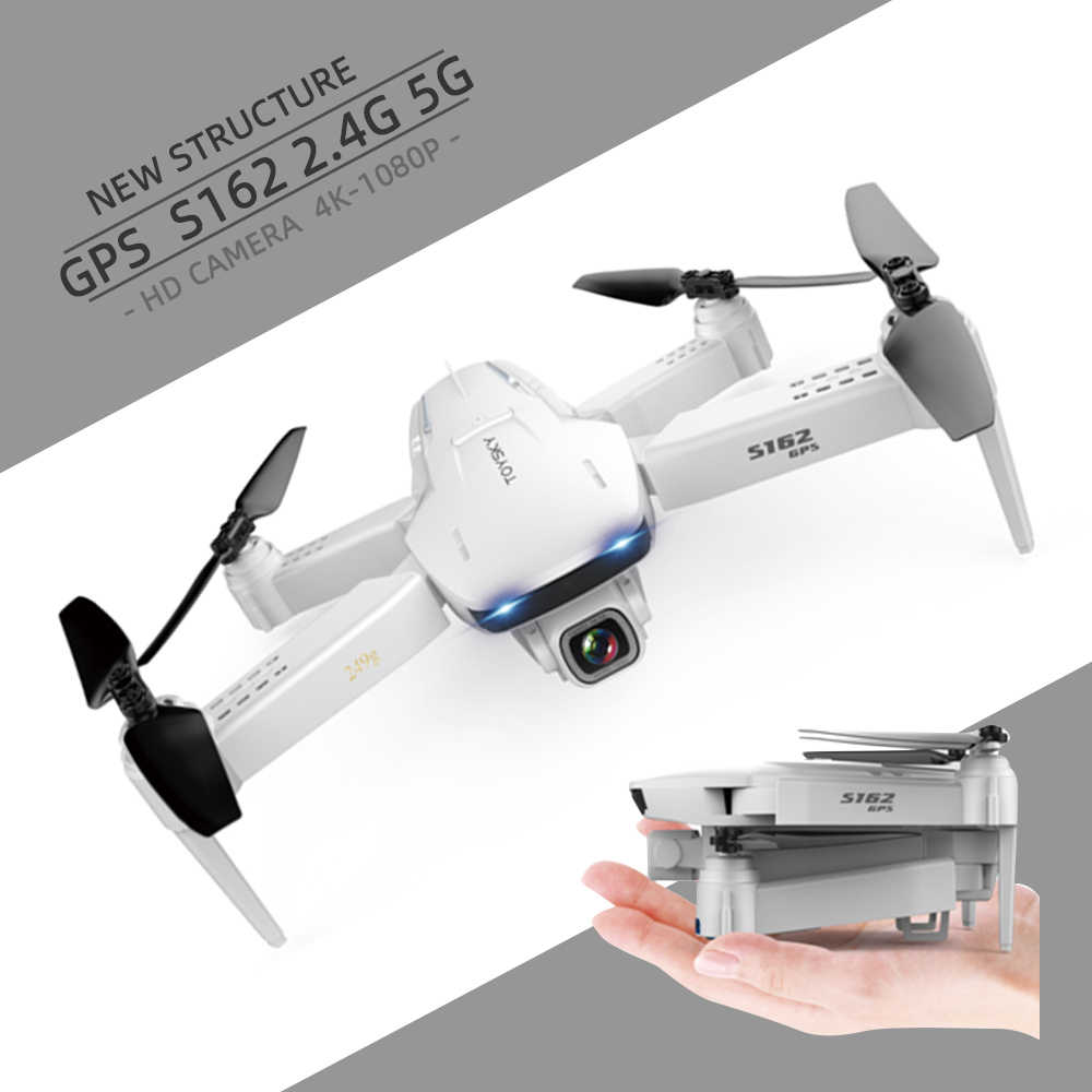 S162 Drone Rc Dron Gps 4K Quadcopter Wifi Fpv Quadcopter Vlucht 20 Minuten Afstand 500 M Smart Terugkeer Speelgoed pk SG907 S167 S20 X81