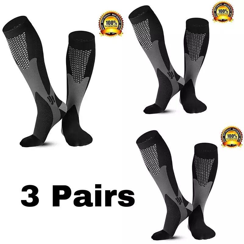 1/2/3/4/5/6 пар Компрессионные носки подходит варикозное расширение вен Футбол футбольные 30mmhg Для мужчин Для женщин Для мужчин носки для бега ве...