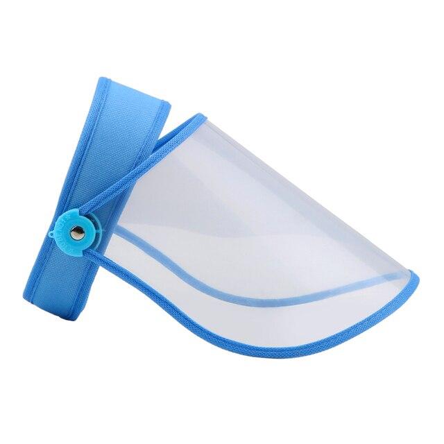 Eye Protective Visor Shield Anti Dust-proof Full Face Cover Mouth Mask Transparent Prevent Saliva Splash Mask Safe Face Shield 2