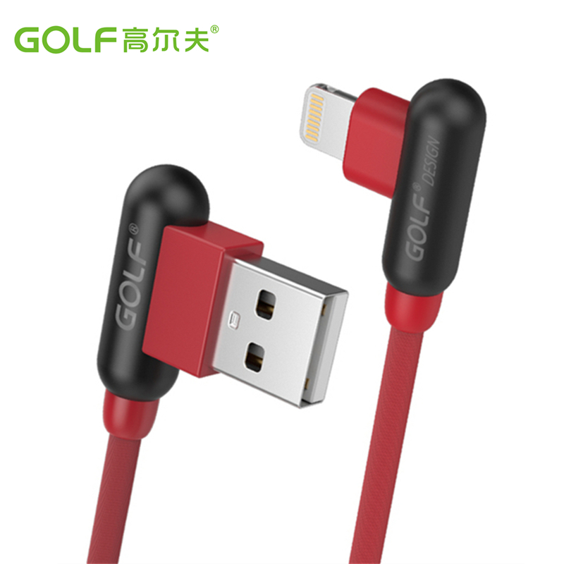 <font><b>Golf</b></font> 3ft 6ft Fast Charging <font><b>USB</b></font> Data Sync Cable for iPhone 6 6S 7 8 Plus X XR XS 11 Pro Max SE <font><b>5</b></font> 5S Right Angle Charger Cables 2m image