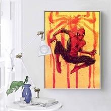 Spider-Man Hot Marvel Superhero Comic Movie Art Painting Silk Canvas Poster Wall Home Decor