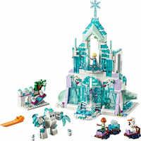 Elsa Anna Magische Eis Schloss Modell Bausteine Cinderella Prinzessin Burg Kompatibel Legoinglys Freunde