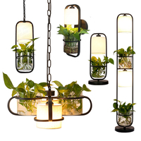 Modern creative floor lamp living room personality hydroponic plant sofa vertical table lamp bedroom decorative Sconce lamp