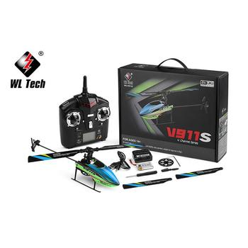 WLtoys V911S 2.4G 4CH 6-Aixs Gyro Flybarless Non-aileron RC Helicopter BNF Toys for Kids Romote Control RC Quadcopter Toys Gift 6