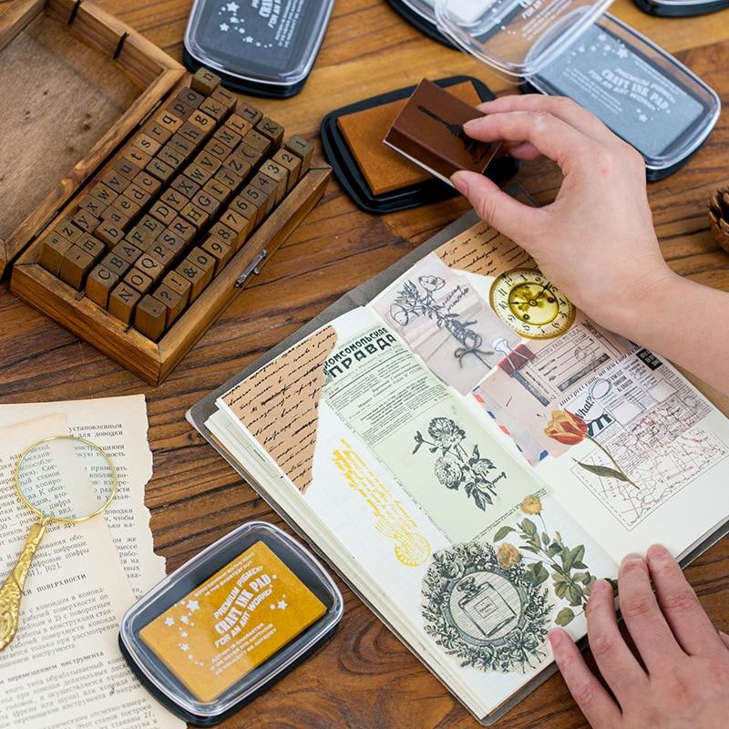 6 Colors Inkpad Craft Oil Based DIY Ink Pads For Sponge Stamps Scrapbooking Decor Fingerprint Seal Stamp Pad
