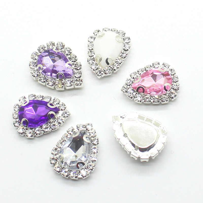 10 Pcs/lot 20*15 Mm Acrylic Snap Tombol Perhiasan Pipih Tombol untuk Pakaian Kerajinan untuk Menjahit Scrapbooking Dekoratif Aksesoris