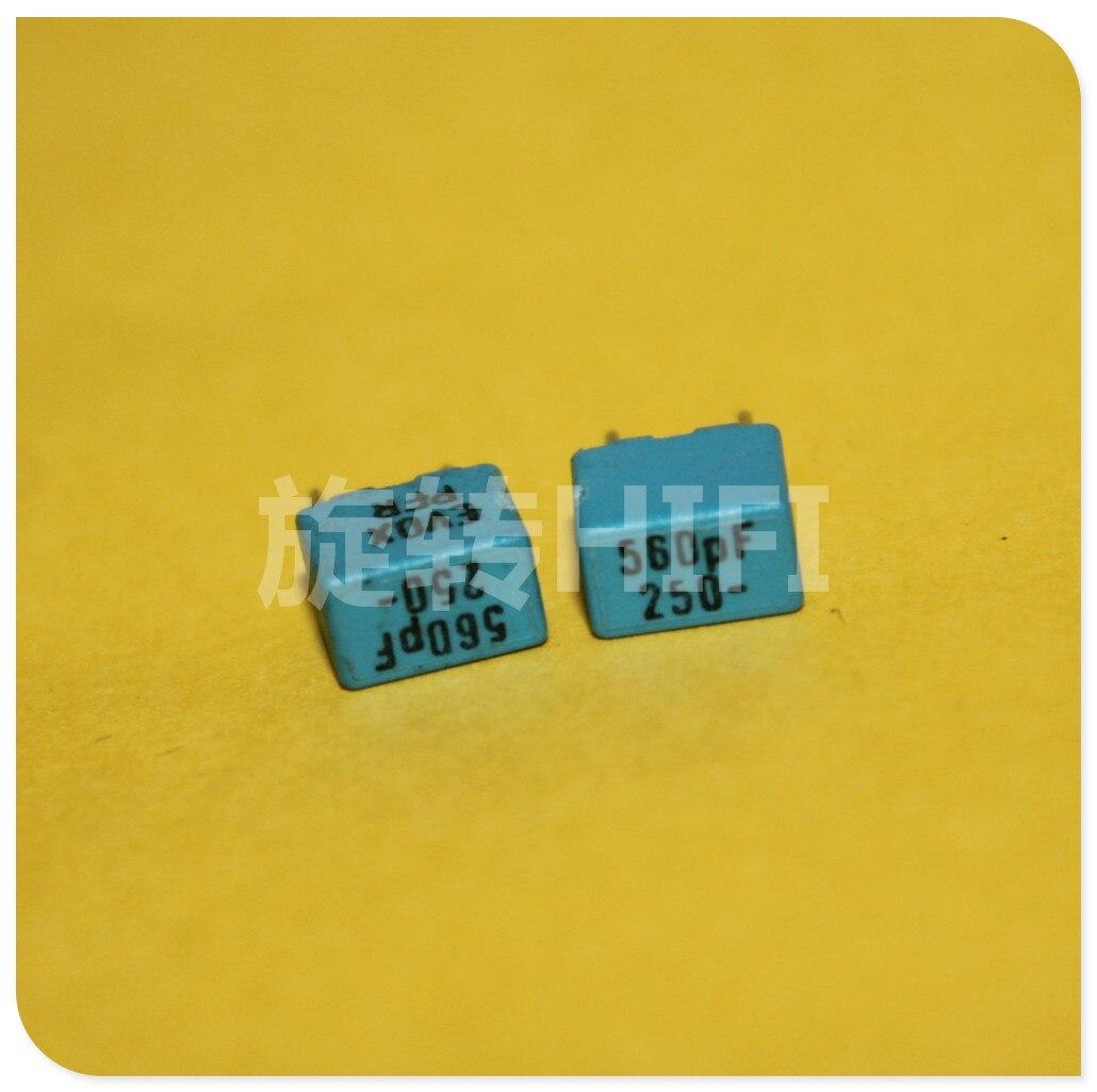 20PCS NEW EVOX PFR5 560PF 250V P5MM MKP 561/250V Film EVOX-RIFA PFR 561 560PF/250V 0.56NF 0.00056UF